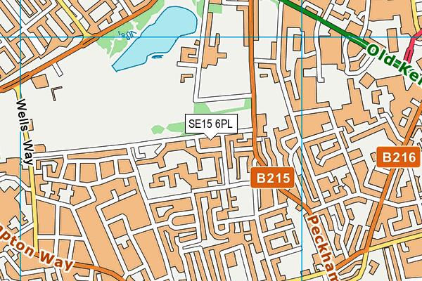 Wickway Community Centre map (SE15 6PL) - OS VectorMap District (Ordnance Survey)