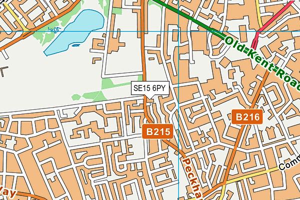 SE15 6PY map - OS VectorMap District (Ordnance Survey)