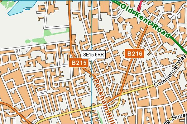 SE15 6RR map - OS VectorMap District (Ordnance Survey)