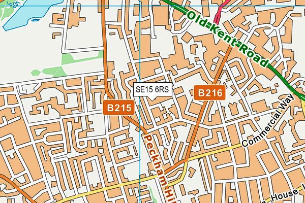 SE15 6RS map - OS VectorMap District (Ordnance Survey)