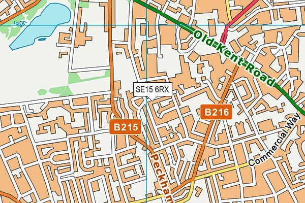 SE15 6RX map - OS VectorMap District (Ordnance Survey)