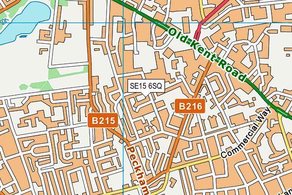 SE15 6SQ map - OS VectorMap District (Ordnance Survey)