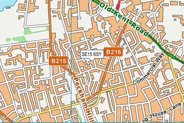 SE15 6SY map - OS VectorMap District (Ordnance Survey)