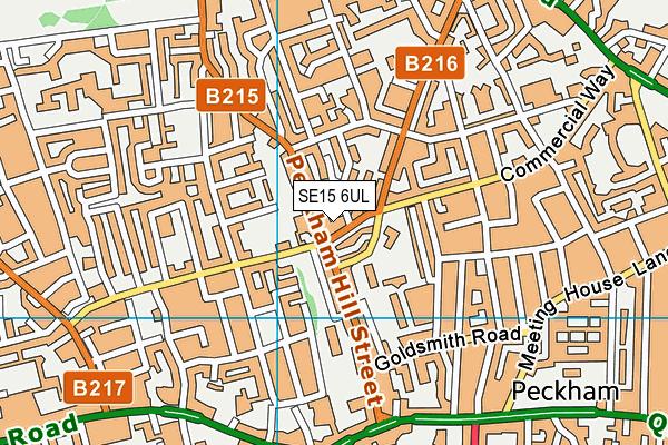 SE15 6UL map - OS VectorMap District (Ordnance Survey)
