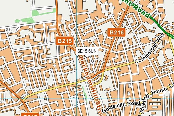 SE15 6UN map - OS VectorMap District (Ordnance Survey)