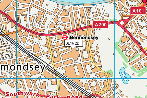 Compass School Southwark map (SE16 2BT) - OS VectorMap District (Ordnance Survey)