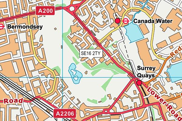 St Joseph's Catholic Primary School map (SE16 2TY) - OS VectorMap District (Ordnance Survey)