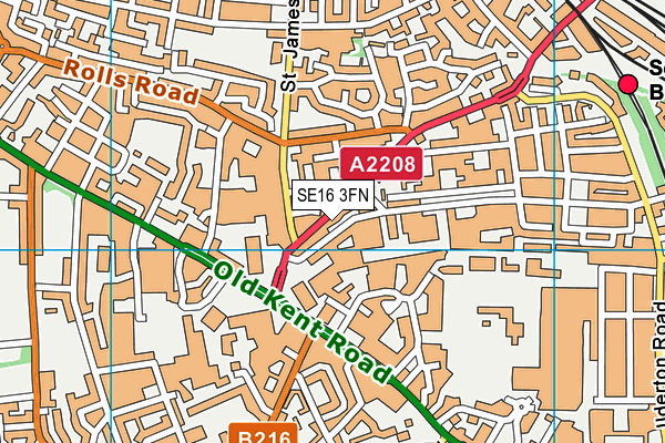 John Keats Primary School map (SE16 3FN) - OS VectorMap District (Ordnance Survey)
