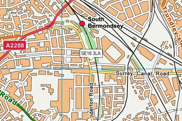 Ilderton Primary School map (SE16 3LA) - OS VectorMap District (Ordnance Survey)
