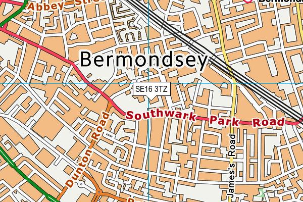 Harris Academy Bermondsey map (SE16 3TZ) - OS VectorMap District (Ordnance Survey)