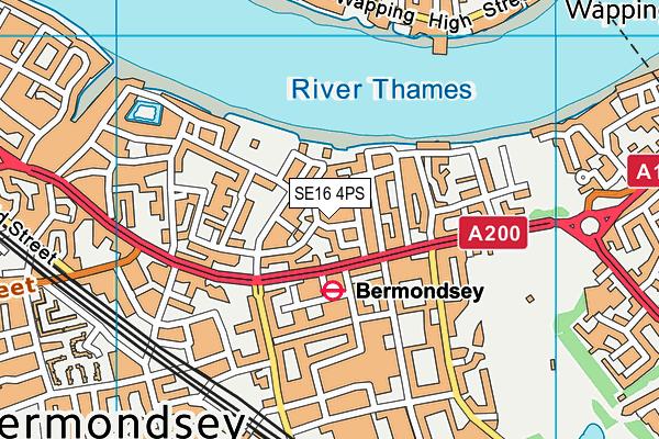 Riverside Primary School map (SE16 4PS) - OS VectorMap District (Ordnance Survey)