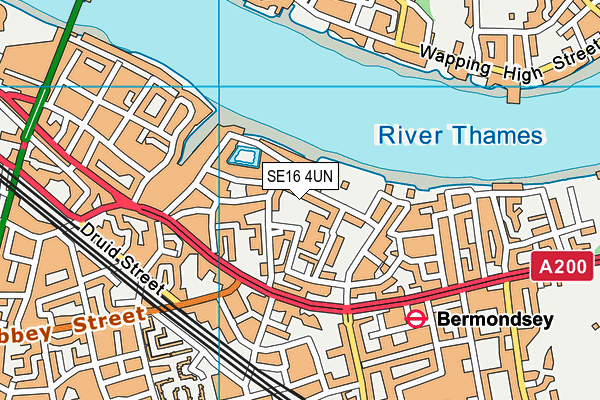 St Michael's Catholic College map (SE16 4UN) - OS VectorMap District (Ordnance Survey)