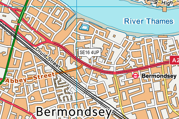 St Joseph's Roman Catholic Primary School map (SE16 4UP) - OS VectorMap District (Ordnance Survey)