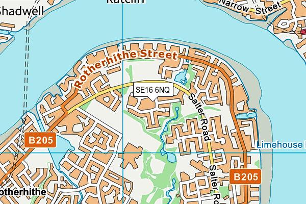SE16 6NQ map - OS VectorMap District (Ordnance Survey)