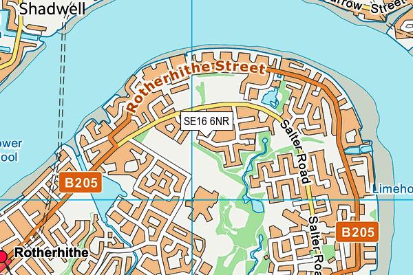 SE16 6NR map - OS VectorMap District (Ordnance Survey)