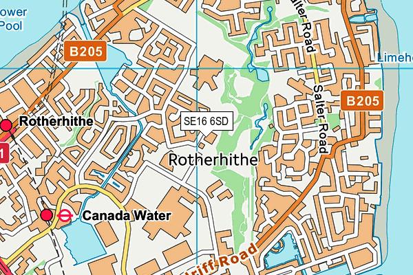 St John's Roman Catholic Primary School map (SE16 6SD) - OS VectorMap District (Ordnance Survey)