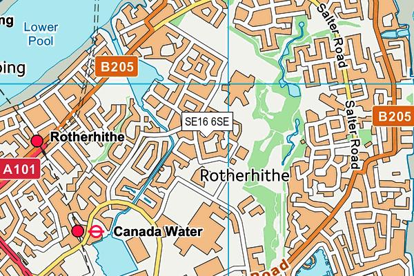 SE16 6SE map - OS VectorMap District (Ordnance Survey)