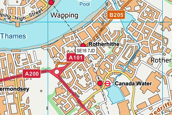 Albion Primary School map (SE16 7JD) - OS VectorMap District (Ordnance Survey)