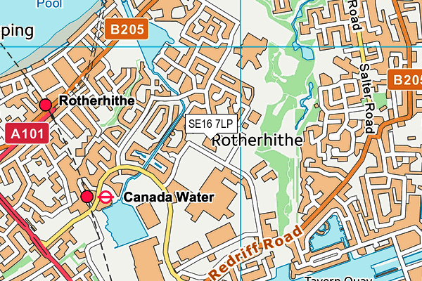 Alfred Salter Primary School map (SE16 7LP) - OS VectorMap District (Ordnance Survey)