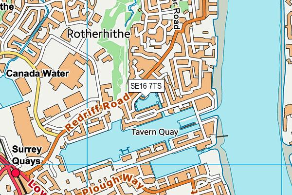 SE16 7TS map - OS VectorMap District (Ordnance Survey)