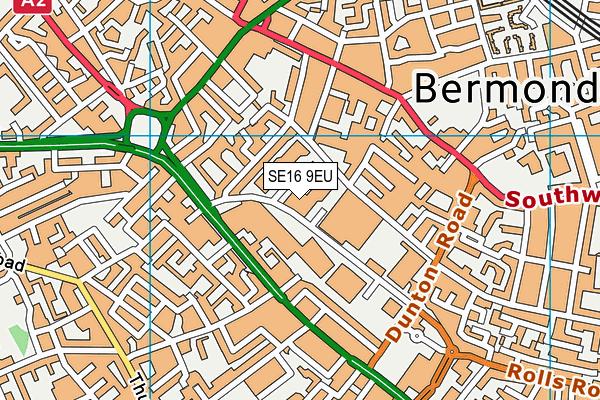 SE16 9EU map - OS VectorMap District (Ordnance Survey)