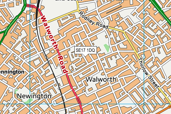 Robert Browning Primary School map (SE17 1DQ) - OS VectorMap District (Ordnance Survey)