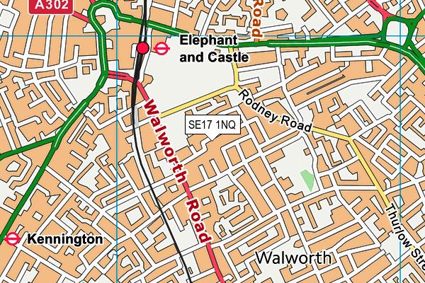 St John's Walworth Church of England Primary School map (SE17 1NQ) - OS VectorMap District (Ordnance Survey)