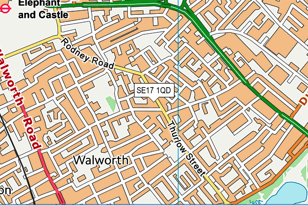 English Martyrs Roman Catholic Primary School map (SE17 1QD) - OS VectorMap District (Ordnance Survey)