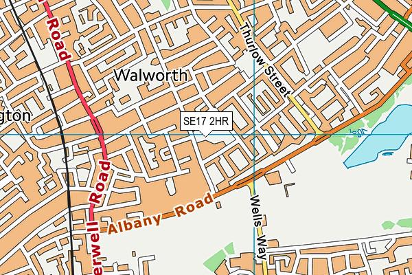 Michael Faraday School map (SE17 2HR) - OS VectorMap District (Ordnance Survey)