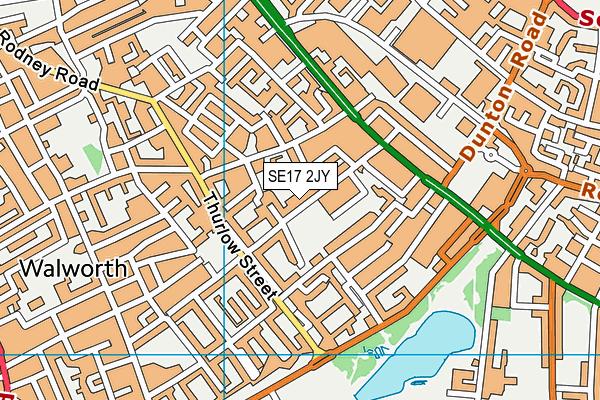 Surrey Square Primary School map (SE17 2JY) - OS VectorMap District (Ordnance Survey)