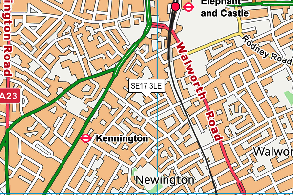 Crampton Primary map (SE17 3LE) - OS VectorMap District (Ordnance Survey)