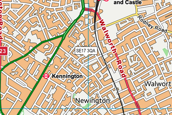 Map of GIRLS ABOUT PECKHAM LIMITED at district scale