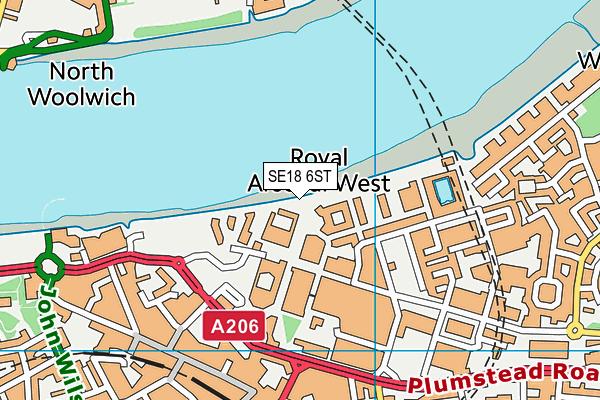 Academy Performing Arts map (SE18 6ST) - OS VectorMap District (Ordnance Survey)