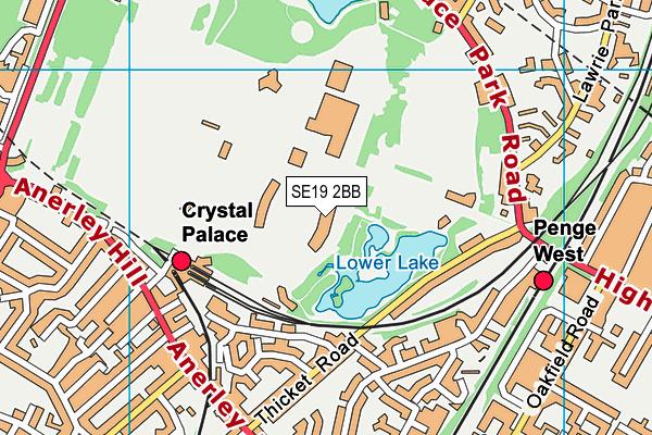 Crystal Palace National Sports Centre map (SE19 2BB) - OS VectorMap District (Ordnance Survey)
