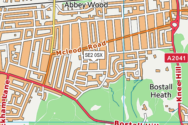 Abbey Wood Children's Centre map (SE2 0SX) - OS VectorMap District (Ordnance Survey)