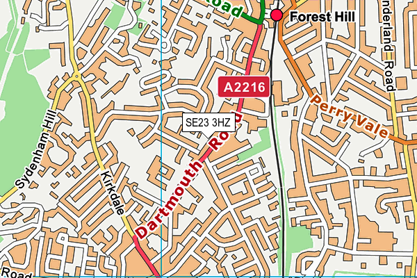 Forest Hill Pools map (SE23 3HZ ) - OS VectorMap District (Ordnance Survey)
