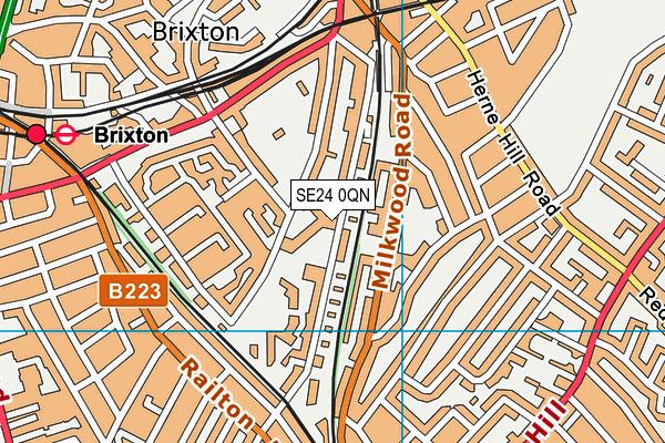 Ark Evelyn Grace Academy map (SE24 0QN) - OS VectorMap District (Ordnance Survey)