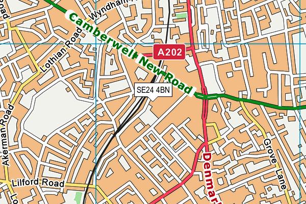 SE24 4BN map - OS VectorMap District (Ordnance Survey)