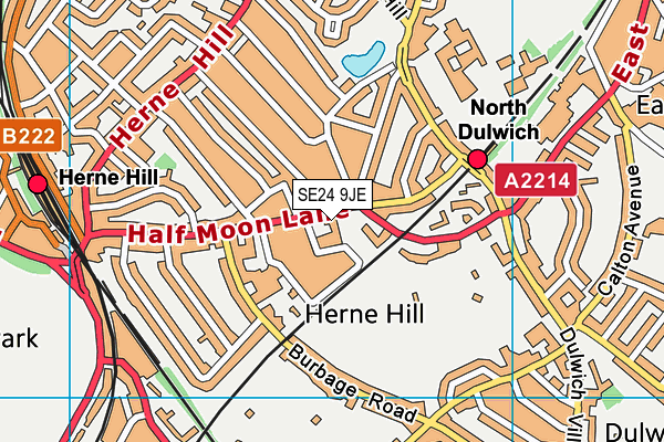 Judith Kerr Primary School map (SE24 9JE) - OS VectorMap District (Ordnance Survey)