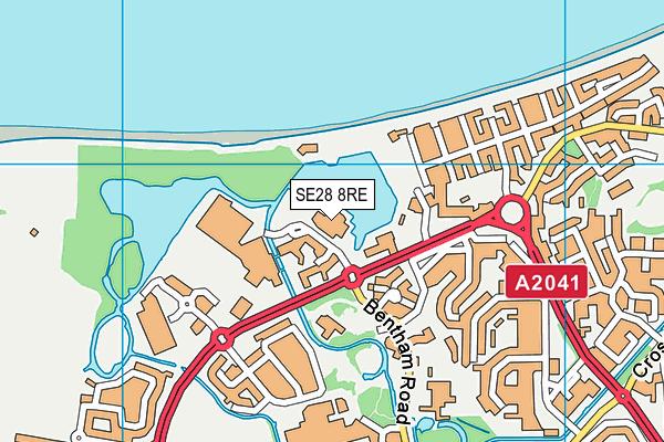 Thamesmere Leisure Centre map (SE28 8RE) - OS VectorMap District (Ordnance Survey)