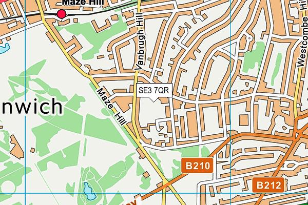 The John Roan School map (SE3 7QR) - OS VectorMap District (Ordnance Survey)