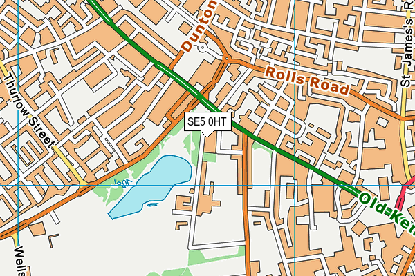 SE5 0HT map - OS VectorMap District (Ordnance Survey)