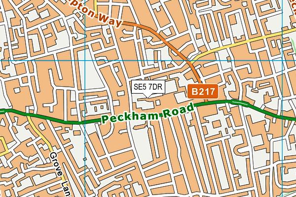 SE5 7DR map - OS VectorMap District (Ordnance Survey)