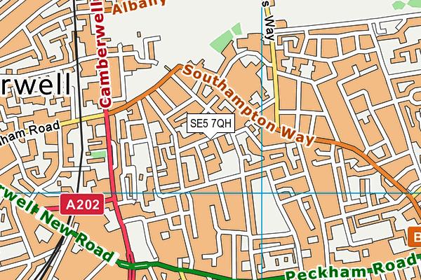 Brunswick Park Primary School map (SE5 7QH) - OS VectorMap District (Ordnance Survey)