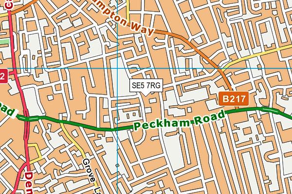 Brunswick Park map (SE5 7RG) - OS VectorMap District (Ordnance Survey)