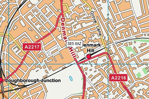 Bethlem and Maudsley Hospital School map (SE5 8AZ) - OS VectorMap District (Ordnance Survey)