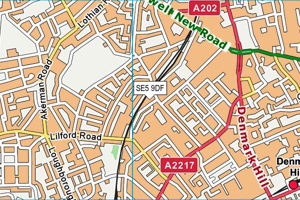 Flaxman Sports Centre map (SE5 9DF) - OS VectorMap District (Ordnance Survey)