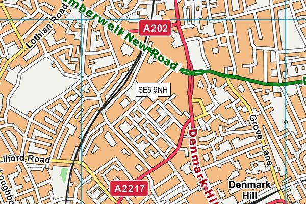 SE5 9NH map - OS VectorMap District (Ordnance Survey)