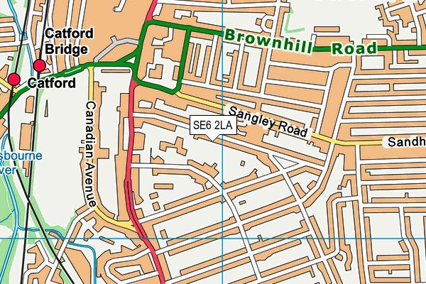 Rushey Green Primary School map (SE6 2LA) - OS VectorMap District (Ordnance Survey)