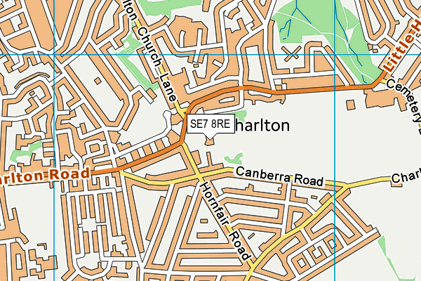 Charlton House Library map (SE7 8RE) - OS VectorMap District (Ordnance Survey)